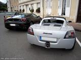 Opel Speedster et Ferrari F430